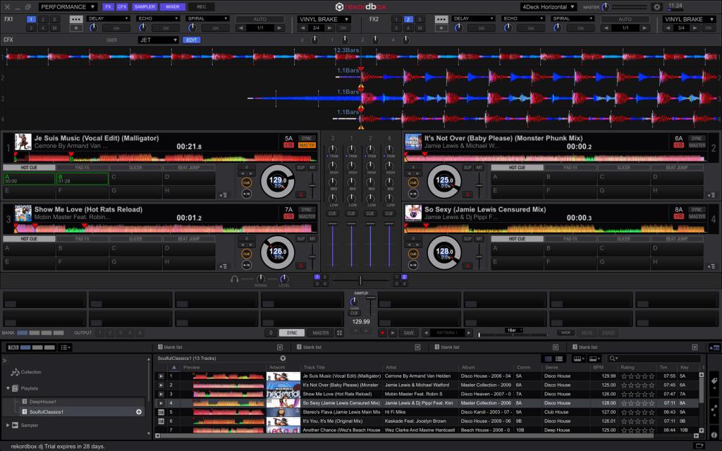 Pioneer Rekordbox DJ affichage complet